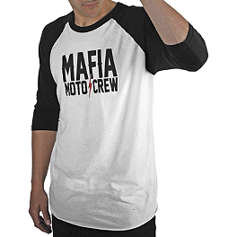Mafia Moto Crew 3/4 Sleeve Logo T-Shirt - Answer Stacked Beanie