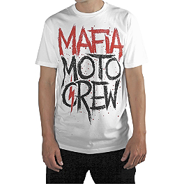 Mafia Moto Crew Sprayed T-Shirt - Works Connection Lanyard