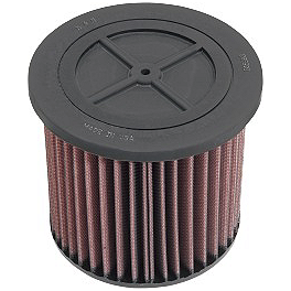 Moose High Performance K&N Air Filter - 1996 Yamaha WOLVERINE 350 Outerwears Pre-Filter For K&N, Black