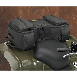 Moose Bighorn Rear Rack Bag - Black - 2010 Honda RANCHER 420 4X4 ES POWER STEERING Moose 387X Rear Wheel - 12X8 2B+6N Black