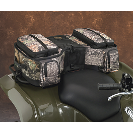 Moose Bighorn Rear Rack Bag - Mossy Oak Break-Up - 2006 Kawasaki BRUTE FORCE 650 4X4 (SOLID REAR AXLE) Moose Handguards - Black
