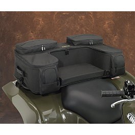 Moose Ozark Rear Rack Bag - Black - 2010 Suzuki KING QUAD 500AXi 4X4 POWER STEERING Moose 387X Rear Wheel - 12X8 4B+4N Black