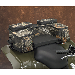 Moose Ozark Rear Rack Bag - Mossy Oak Break-Up - 2013 Yamaha GRIZZLY 550 4X4 POWER STEERING Moose 393X Front Wheel - 12X7 4B+3N Black