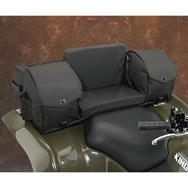 Moose Ridgetop Rear Rack Bag - Black - 2010 Kawasaki BRUTE FORCE 650 4X4 (SOLID REAR AXLE) Moose Plow Push Tube Bottom Mount