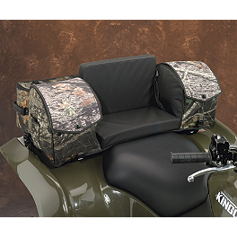 Moose Ridgetop Rear Rack Bag - Mossy Oak Break-Up - 1996 Yamaha BIGBEAR 350 2X4 Moose Handguards - Black