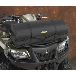 Moose Axis Front Rack Bag - Black - 2010 Kawasaki BRUTE FORCE 650 4X4 (SOLID REAR AXLE) Moose Handguards - Red