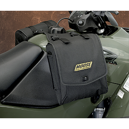 Moose Expedition Tank Bag - Black - Moose Handguards - Red