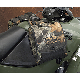 Moose Expedition Tank Bag - Mossy Oak Break-Up - 2009 Suzuki KING QUAD 450AXi 4X4 Moose Handguards - Black