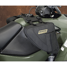 Moose Bighorn Tank Bag - Black - 1999 Yamaha BIGBEAR 350 4X4 Moose CV Boot Guards - Front