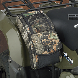 Moose Expedition Fender Bag - Mossy Oak Break-Up - 2005 Yamaha KODIAK 450 4X4 Moose Handguards - Black