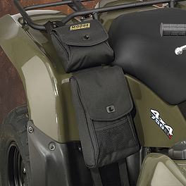Moose Bighorn Fender Bag - Black - 2011 Suzuki KING QUAD 400ASi 4X4 AUTO Moose 393X Front Wheel - 12X7 4B+3N Black