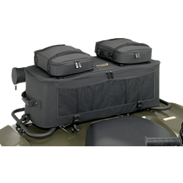 Moose Expedition Rack Bag - Black - 2002 Suzuki EIGER 400 2X4 SEMI-AUTO Moose 393X Front Wheel - 12X7 4B+3N Black