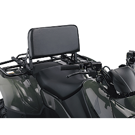 Moose ATV Back Rest - 2011 Suzuki KING QUAD 750AXi 4X4 POWER STEERING Moose 393X Front Wheel - 12X7 4B+3N Black