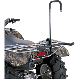 Moose Mud Tree Stand Carrier - 2009 Yamaha BIGBEAR 400 4X4 Moose 393X Front Wheel - 12X7 4B+3N Black