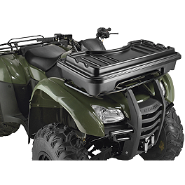 Moose Front Basket With Cover - 2009 Kawasaki BRUTE FORCE 650 4X4 (SOLID REAR AXLE) Moose Plow Push Tube Bottom Mount