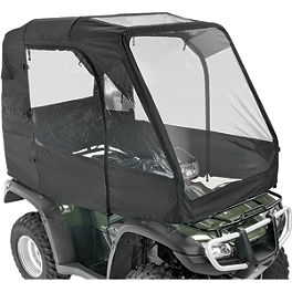 Moose Deluxe ATV Cab Enclosure - Moose Handguards - Black