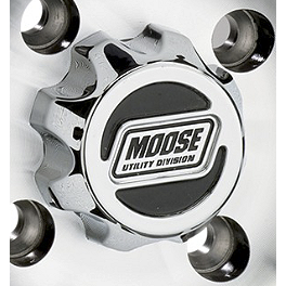 Moose 387X Center Cap - 1999 Honda TRX300FW 4X4 Moose 393X Front Wheel - 12X7 4B+3N Black