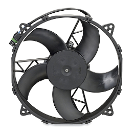 Moose OEM Replacement Cooling Fan - 2010 Polaris RANGER 800 HD 4X4 Moose 387X Rear Wheel - 12X8 4B+4N Black