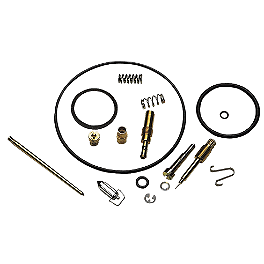 Moose Carburetor Repair Kit - 2003 Suzuki EIGER 400 2X4 SEMI-AUTO Quad Works Standard Seat Cover - Black