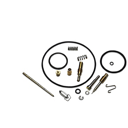 Moose Carburetor Repair Kit - 2005 Honda RANCHER 400 4X4 Moose 393X Front Wheel - 12X7 4B+3N Black