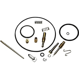 Moose Carburetor Repair Kit - 2007 Yamaha GRIZZLY 125 2x4 Quad Works Gripper Seat Cover - Black