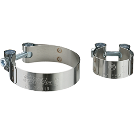 Moose Stainless Exhaust Clamps - Moose 2-Stroke Pipe Guard