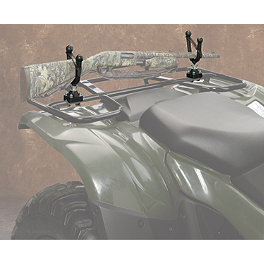 Moose Single Gun Rack - 2010 Polaris SPORTSMAN XP 550 EFI 4X4 WITH EPS Moose 387X Rear Wheel - 12X8 4B+4N Black