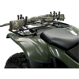 Moose Ozark Double Gun Rack - 2004 Polaris RANGER 700 6X6 Moose 393X Front Wheel - 12X7 4B+3N Black