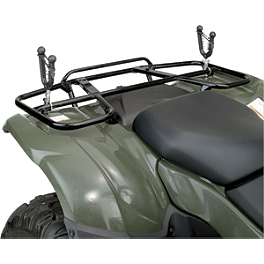 Moose Expedition Single Gun Rack - 2005 Polaris RANGER 700 6X6 Moose 393X Front Wheel - 12X7 4B+3N Black