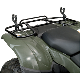 Moose Big Horn Single Gun Rack - Moose CV Boot Guards - Front