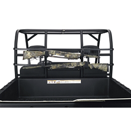 Moose UTV Roll Cage Gun Rack - 2007 Suzuki EIGER 400 4X4 AUTO Moose 387X Rear Wheel - 12X8 2B+6N Black