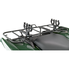 Moose Axis Double Gun Rack - 2013 Suzuki KING QUAD 400FSi 4X4 AUTO Moose 393X Front Wheel - 12X7 4B+3N Black