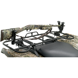 Moose Flexgrip Pro Single Gun Rack - 2011 Polaris RANGER 800 6X6 Moose 393X Front Wheel - 12X7 4B+3N Black