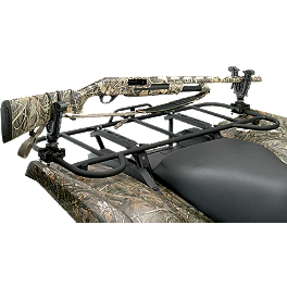 Moose V-Grip Single Gun Rack - 2004 Honda RINCON 650 4X4 Moose Handguards - Black