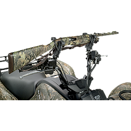 Moose V-Grip Handlebar Gun Rack - 2006 Suzuki EIGER 400 4X4 AUTO Moose Plow Push Tube Bottom Mount