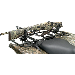 Moose V-Grip Double Gun Rack - 2010 Polaris SPORTSMAN 800 EFI 4X4 Moose 393X Front Wheel - 12X7 4B+3N Black