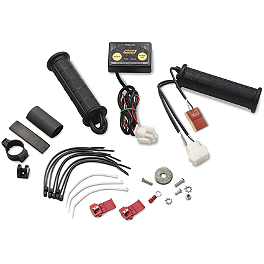 Moose Winter Pack Heated Grips - Thumb Throttle - 2005 Honda RANCHER 400 4X4 Moose Handguards - Black