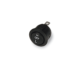 Moose No Adhesive Heated Grip Replacement Switch - Moose Replacement Hi/Low/Off Switch - Metal