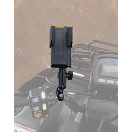 Moose Deluxe GPS/Phone Holder - 2014 Yamaha GRIZZLY 450 4X4 POWER STEERING Moose Plow Push Tube Bottom Mount