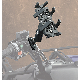 Moose Finger Grip ATV/UTV Communication Holder - 2008 Kawasaki BRUTE FORCE 750 4X4i (IRS) Moose Handguards - Black