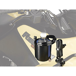 Moose Drink Cup Holder - 2010 Yamaha GRIZZLY 350 2X4 Moose Handguards - Black