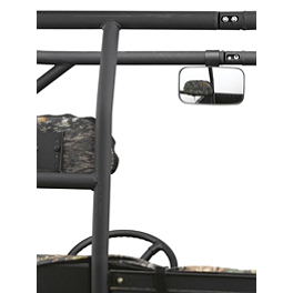 "Moose UTV Inside / Outside Rear View Mirror - 1.75"" Rollbar - Moose Plow Push Tube Bottom Mount"