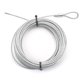 Moose Electric Plow Lift Replacement Wire Rope With Loop - 1999 Honda TRX300FW 4X4 Moose 393X Center Cap
