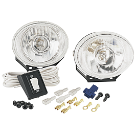 Moose Halogen Light Kit - 2008 Polaris SPORTSMAN 400 H.O. 4X4 Moose Plow Push Tube Bottom Mount