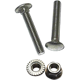 Moose Replacement Plow Wear Bar Nuts/Bolts - 18 Pack - 2010 Honda TRX250 RECON Moose Plow Push Tube Bottom Mount