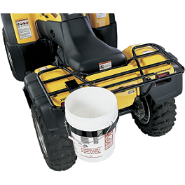 Moose Quick Release 5 Gallon Bucket Holder - 2006 Suzuki EIGER 400 4X4 AUTO Moose Plow Push Tube Bottom Mount