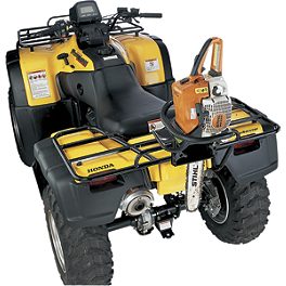 Moose Quick Release Chainsaw Holder - 2009 Suzuki KING QUAD 400FS 4X4 SEMI-AUTO Moose 393X Front Wheel - 12X7 4B+3N Black