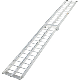 Moose Straight Aluminum Folding Ramp - 9' - Moose Arched Aluminum Folding Ramp