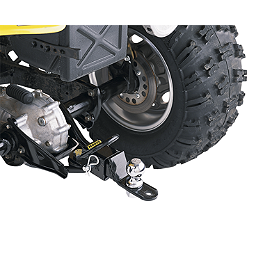 "Moose Three-Way Receiver Hitch - 2"" - 2008 Polaris SPORTSMAN 400 H.O. 4X4 Moose 387X Rear Wheel - 12X8 4B+4N Black"