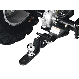"Moose Three-Way Receiver Hitch - 1-1/4"" - 2013 Suzuki KING QUAD 400ASi 4X4 AUTO Moose 393X Front Wheel - 12X7 4B+3N Black"